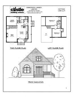 cottage plans designs cottage plans