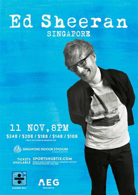ed sheeran tour ed sheeran will be coming to singapore this year editorial