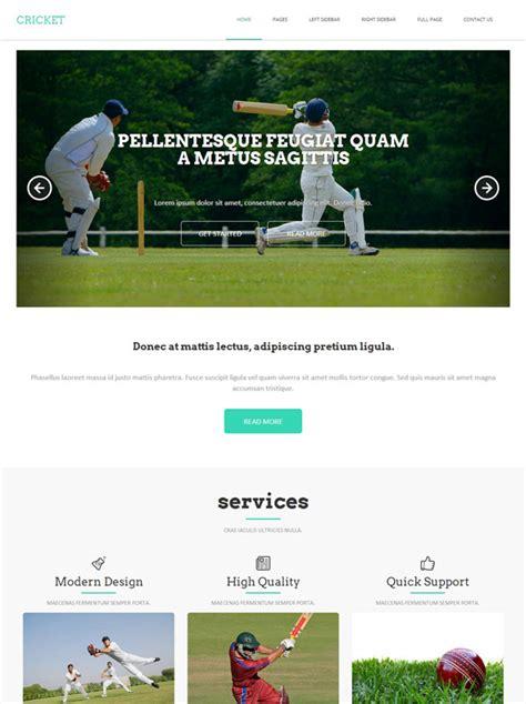 templates for cricket website cricket html template cricket website templates