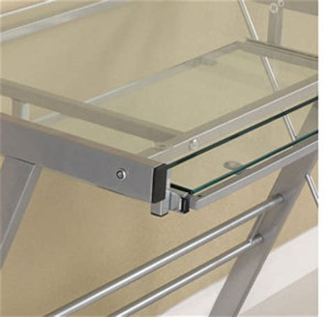 walker edison 3 contemporary glass and steel desk