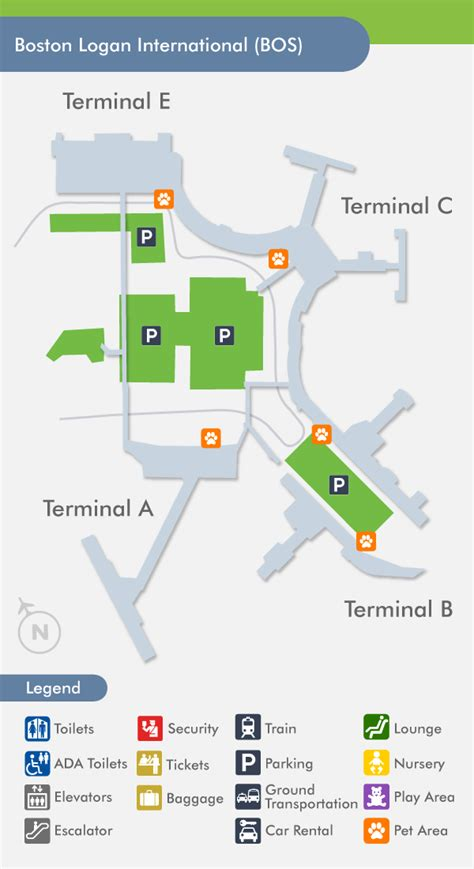 boston logan airport map image gallery logan airport terminals airlines