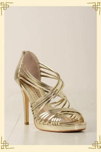 High Heels Code T2 by Gold Strappy Sandals Februari 2014