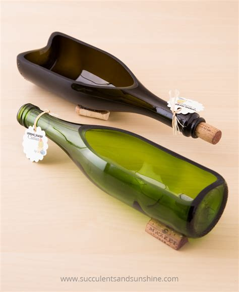 How To Make A Wine Bottle Planter by Diy Wine Bottle Planter For Succulents Succulents And