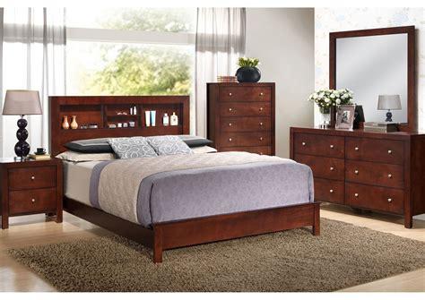 Cherry King Headboard by Furniture Direct Bronx Manhattan New York City Ny Cherry King Bed W Bookcase Headboard