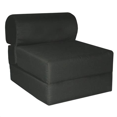 Childrens Sleeper Chair by Elite Black Children S Foam Sleeper Chair 32 4300 601