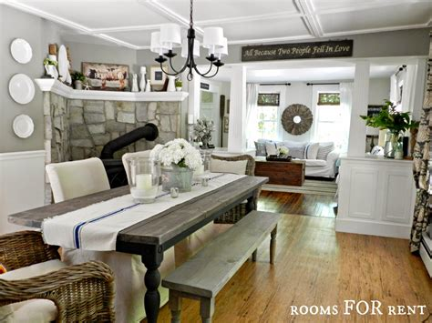 Farmhouse Dining Room Paint Ideas Farmhouse Dining Room White Columns Woodsmoke Grey Paint