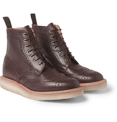 s crepe sole boots mcnairy new amsterdam crepe sole leather brogue boots