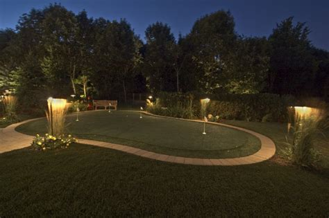 backyard putting green lighting backyard sports lighting outdoor furniture design and ideas