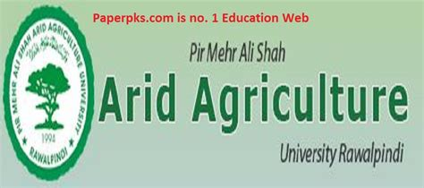 Arid Agriculture Fee Structure Mba by Arid Agriculture Merit List 2018 Announced