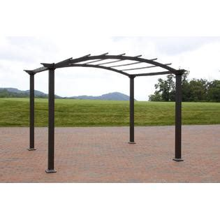 garden oasis curved pergola garden oasis 8 x 10 arched steel pergola brown