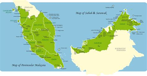 map of malaysia map of east and west malaysia travel malaysia malaysia