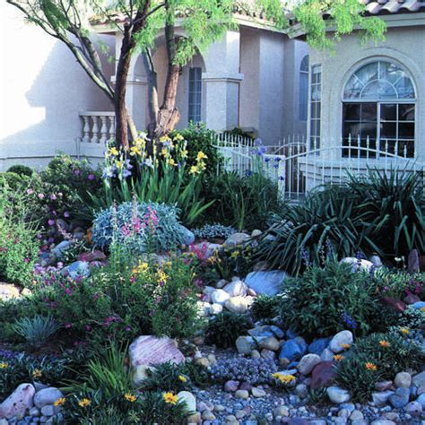 water wise landscaping on a small las vegas lot sunset