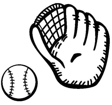 baseball glove coloring coloring pages