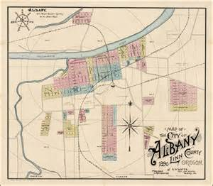 where is albany oregon on map map of the city of albany county oregon 1890 by g