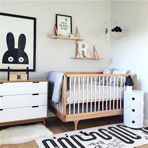modern gender neutral nursery decorations black white