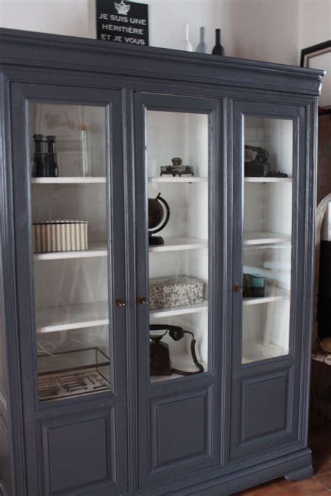 bibliotheque en merisier patinee gris odessa nellco home inspiration pinterest mobilier de salon meuble vaisselier restaurer meuble
