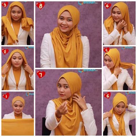 gambar conter kerudung tutorial cara memakai jilbab pashmina pic cara memakai