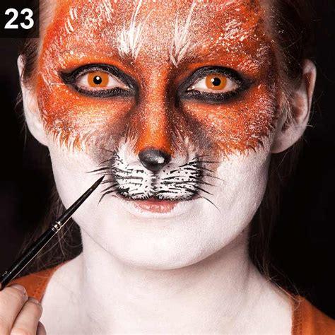 Eyeshadow Komplit fuchs schminken karneval make up tutorial