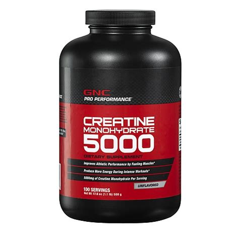 creatine supplements gnc gnc pro performance 174 creatine monohydrate 500g 1 lbs