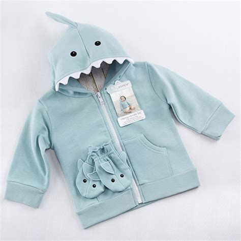 baby shark hoodie baby aspen 174 debuts playful 2016 baby gift collections