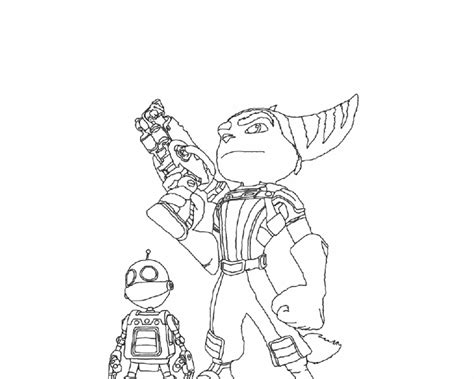 ratchet and clank coloring pages coloring home