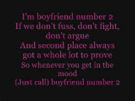 lyrics for husband boyfriend number 2 lyrics