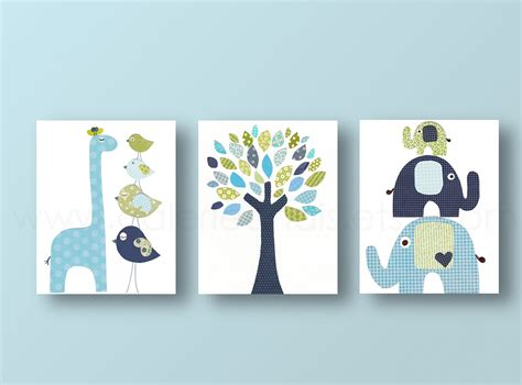 Baby Boy Nursery Wall Decor Baby Boy Nursery Decor Giraffe Home D 233 Cor Nursery By Galerieanais