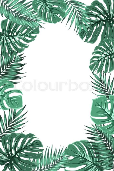Poster Daun Suplir tropical jungle rainforest stock vector