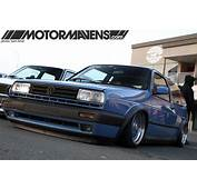 Blue MK2 Volkswagen Golf On BBS RS  Zone
