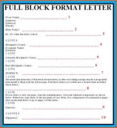 sle business letter block format exle of block style template