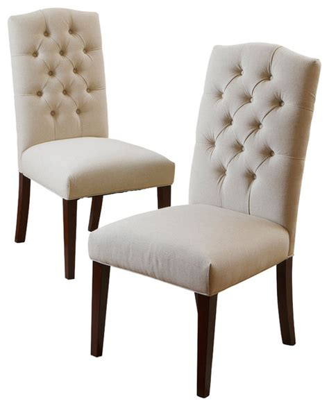 clark dining chairs set of 2 linen