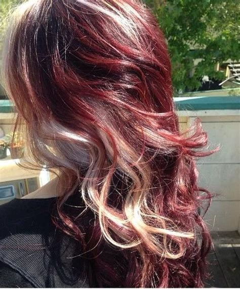 hairstyles with mahogany highlights 17 best images about reds and red violet hair and streaks