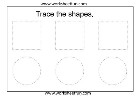 shape tracing templates shape tracing 1 worksheet free printable worksheets