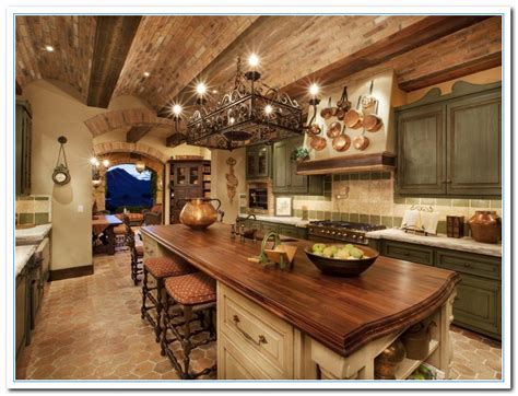 Country Kitchen Cabinets by Tuscany Designs As Mediterranean Kitchen Ideas Home And
