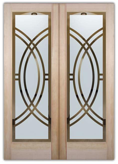 Arcs Ii Etched Glass Front Doors Art Deco Design Deco Interior Doors