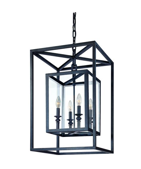 Black Lantern Chandelier Troy Lighting F9994 16 Inch Wide Foyer Pendant Capitol Lighting 1 800lighting
