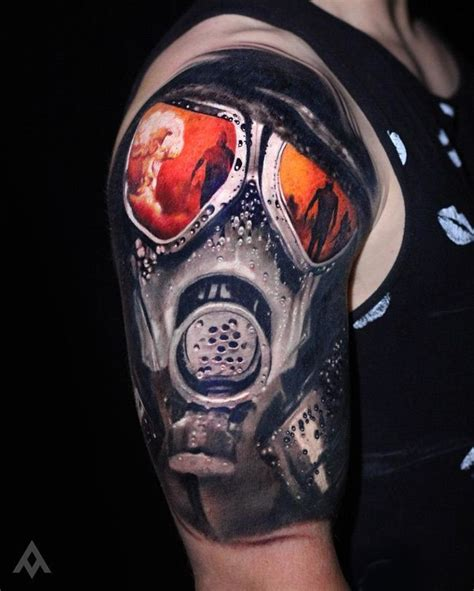 tattoo nightmares gas mask realistic gas mask pinterest masking tattoo and tatting