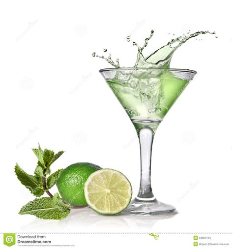 green cocktail png green cocktail with splash stock photo image