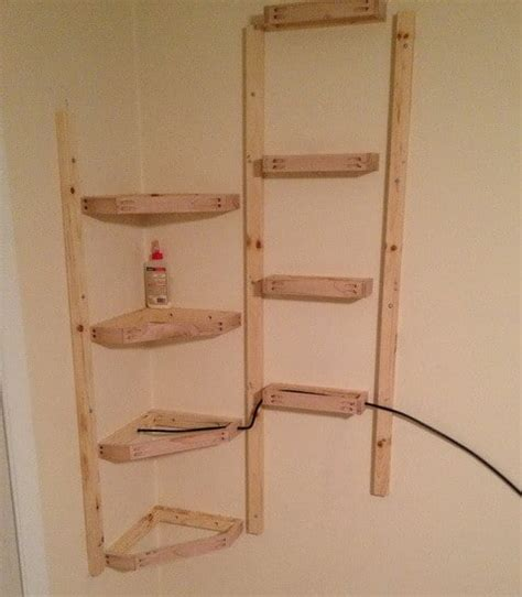 Build A Wall Shelf by How To Build Simple Corner Wall Shelving Yourself Diy Removeandreplace