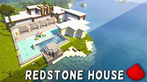Minecraft Redstone House Maps redstone modern house redstone modern mansion