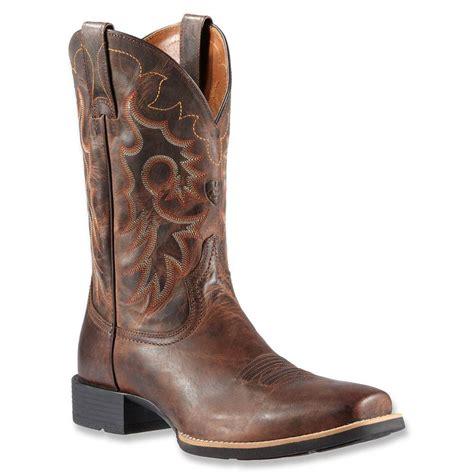 mens cowboy boot slippers ariat mens reinsman cowboy boots