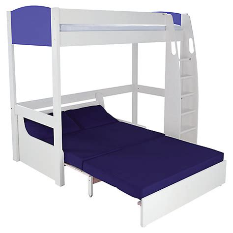 High Sleeper Bed With Futon by Buy Stompa Uno S Plus High Sleeper With Sofa Bed Lewis