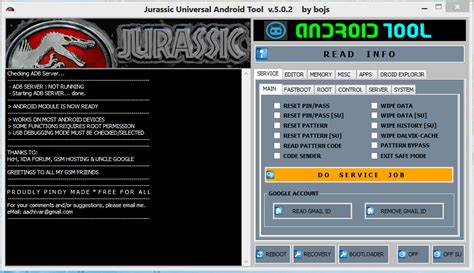 spreadtrum android reset tools by tonmobile jurassic universal android tool v 5 0 2 download link