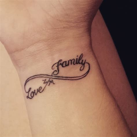 family tattoo on wrist 40 family text amazing infinity tattoos golfian