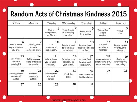 random acts of kindness template kindness is the best way to countdown to