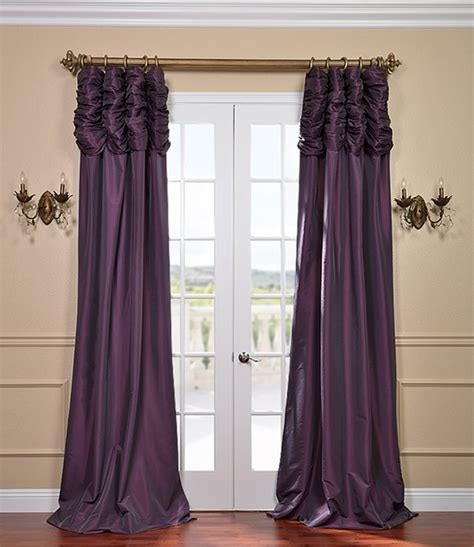ruched drapes dahlia ruched faux solid taffeta curtain contemporary