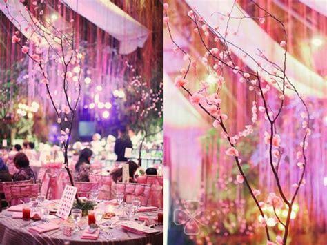 japanese garden cherry blossom wedding  glass garden