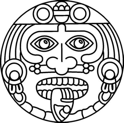 coloring book aztec sun mexicana cinco de mayo