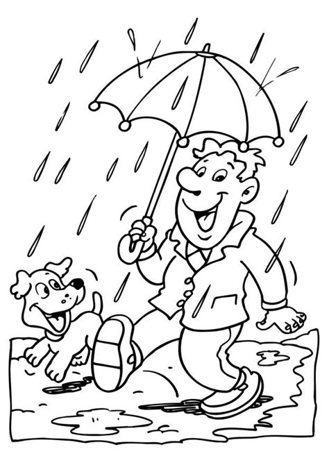 coloring page rainy day rainy day coloring page az coloring pages