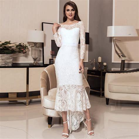 Maxi V Renda White comeondear pano mulheres maxi vestido de renda longos vestidos de verao sereia v1063 barra neck